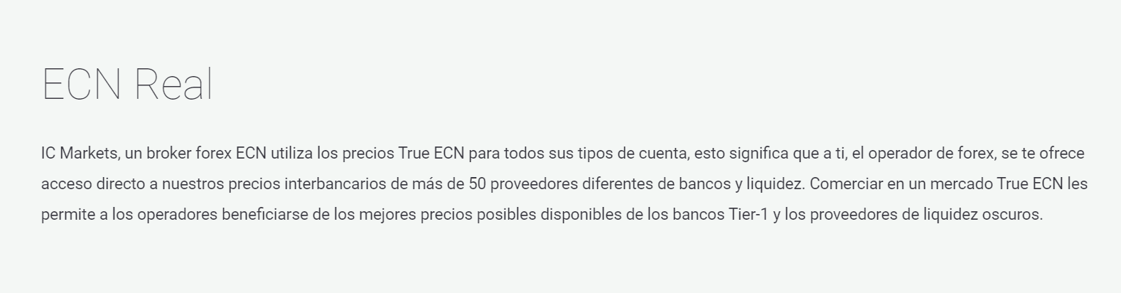 IC Markets ECN