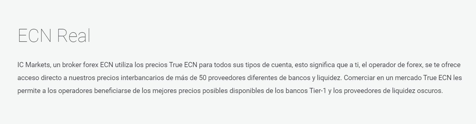 IC Markets ECN