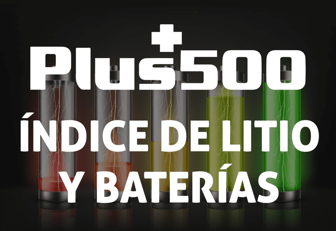 índice de litio y baterías