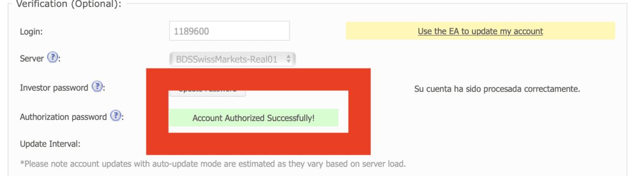 Cuenta verificada en Myfxbook Daytradingforex