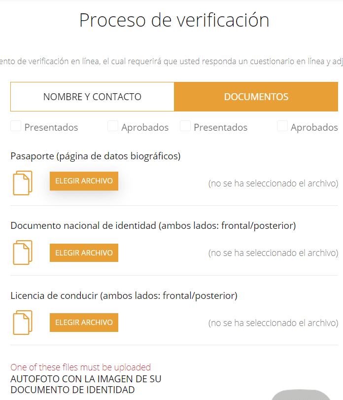 verificación cuenta Coinsbit