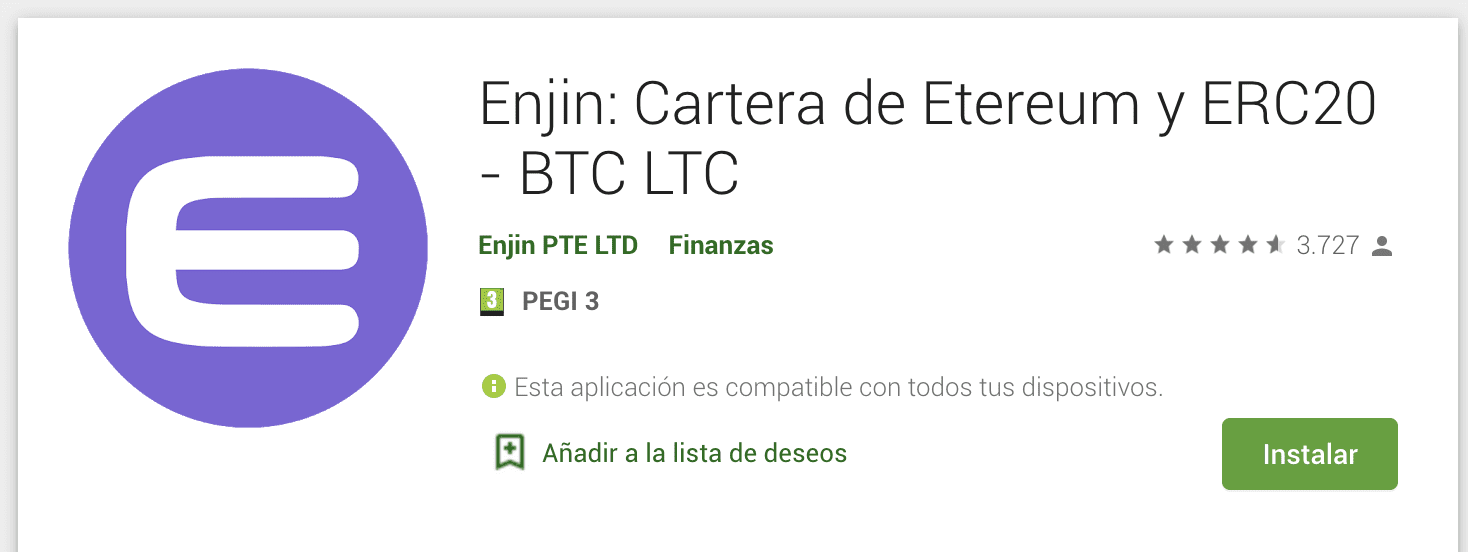 enjin wallet app, enji wallet, enj wallet, descargar enjin wallet